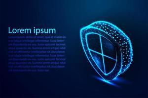 concepto de escudo cibernético isométrico