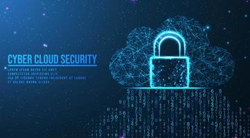 Big data cloud computing and security concept  vector