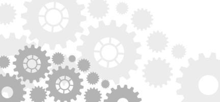 concepto de ingeniería de engranajes vector