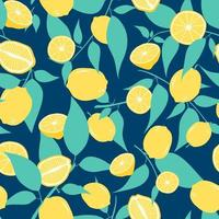 limones y hojas de patrones sin fisuras