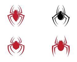 conjunto de símbolo de araña vector