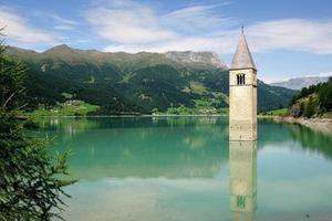 Tower in Resia Lake