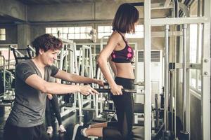 entrenamiento personal en el gimnasio