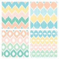 colección de patrones de garabatos en colores pastel vector