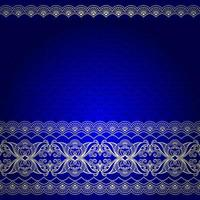 Indian blue and gold decorative border pattern