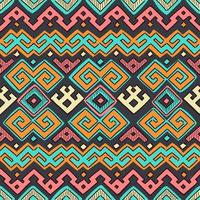 Colorful Seamless Ethnic Tribal Pattern vector