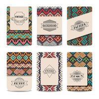 colección de tarjetas vintage vector
