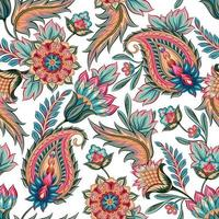 Seamless Colorful Paisley Pattern vector