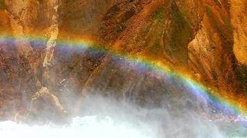 arcoiris en yellowstone lower falls video