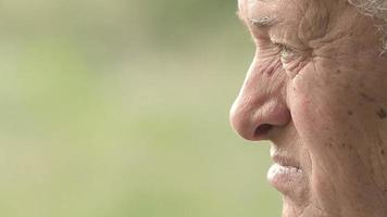 Sad old man looking away: thoughts, sadness, thoughtful, pensive video