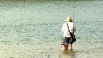 linha de fundição de pescador