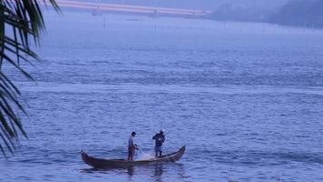 Boat Fishermen in Kerala, India.