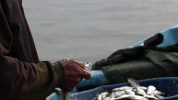 main de pêcheur