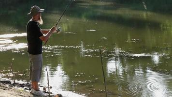 Sports fisherman video