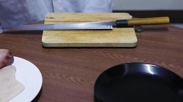 cortar pescado