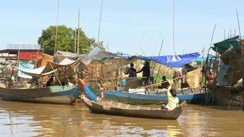 SIEM REAP, CAMBODIA - NOV 2015: Traditional Fishing fisherman fish catch