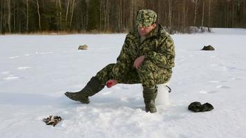 pesca no gelo