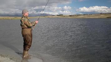 sequência de pesca
