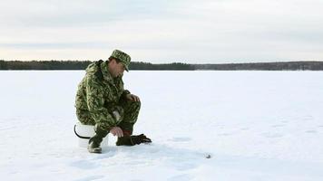 successo nella pesca sul ghiaccio