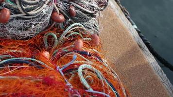 Filet de pêcheur dans le port du lavandou, var, sud de la france