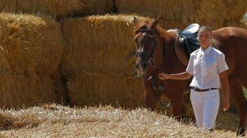 joli jockey conduit le cheval
