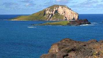 4 k oahu hawaii costa, isla conejo.