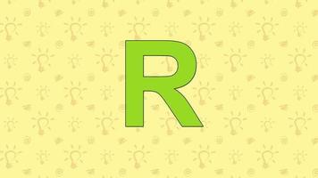 mapache. Alfabeto del zoológico inglés - letra r