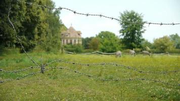 castello francese in un piccolo villaggio video