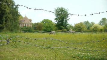middeleeuws kasteeltje in een frans dorp