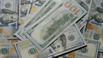 dólares americanos. video