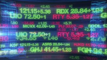 Stock Market Tickers - Digital Data Display Background
