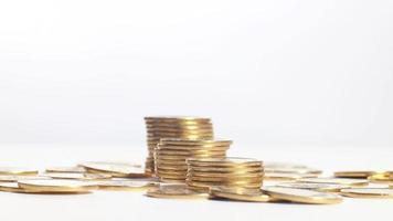 glänzende gestapelte Münzen video