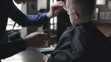 corte de pelo elegante para cliente pequeño