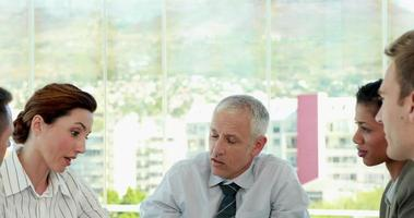 Geschäftsteam während des Meetings video