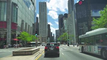 Driving Along the Golden Mile at Michigan Avenue in Chicago video
