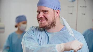 Surgeon Smiling After Successful Operation video