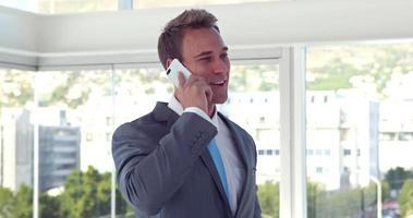 bel uomo d'affari con una telefonata