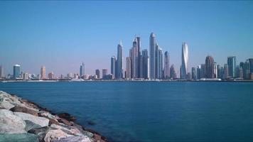Tageslicht Dubai Marina Panorama Zeitraffer