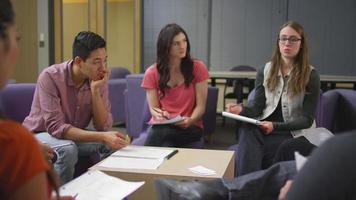 un gruppo di studenti che studiano insieme