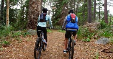 Paar Radfahren zusammen
