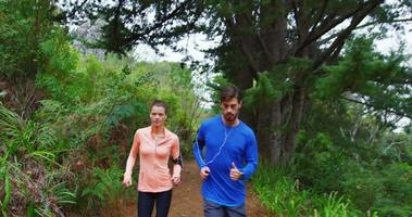 Couple jogging together video