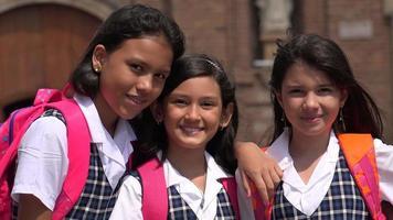 sonrientes niñas de la escuela video