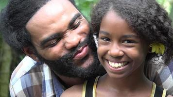 African Father and Daughter video