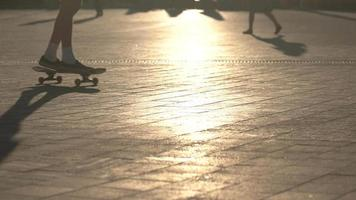 Skateboard in Bewegung.