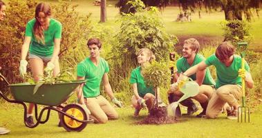heureux amis jardinage pour la communauté