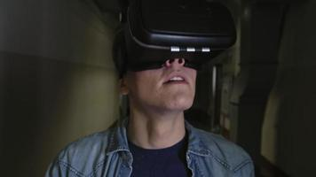 Virtual Reality Experience of Young Man