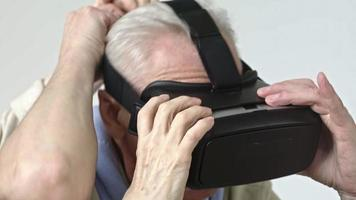 Senior Man Experiencing Virtual Reality