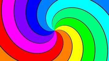 remolino espectral arco iris girando rápidamente en sentido antihorario, bucle sin interrupción video