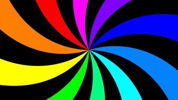 Regenbogenspektralwirbel, der sich langsam im Uhrzeigersinn dreht, nahtlose Schleife video