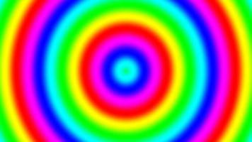 anillos de gradiente espectral del arco iris moviéndose lentamente, bucle sin interrupción video